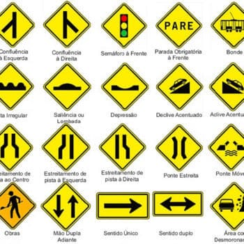 Sinalização Vertical de Advertência (Placas de Trânsito)