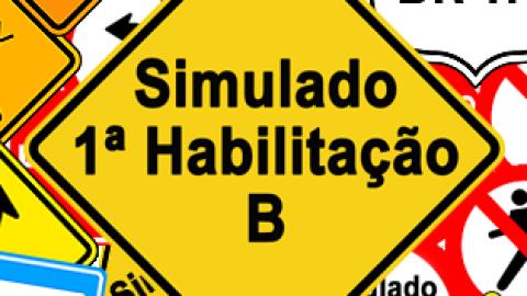 Simulado DETRAN 1ª Habilitação B