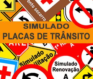 Simulado DETRAN Placas de Trânsito