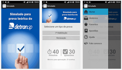 Simulado Detran.SP – Apps para Android e iOS