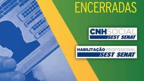 Encerradas as Inscrições CNH Social SEST SENAT