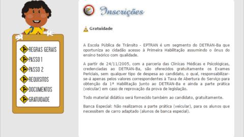 Inscrições para CNH Gratuita 2016 – Feira de Santana-BA