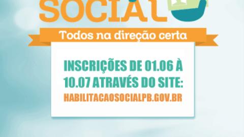 Habilitação Social na Paraíba termina domingo prazo de inscrição