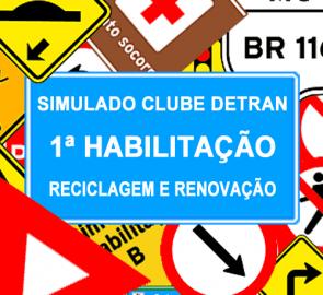 Simulado DETRAN 1ª Habilitação, Reciclagem e Renovação