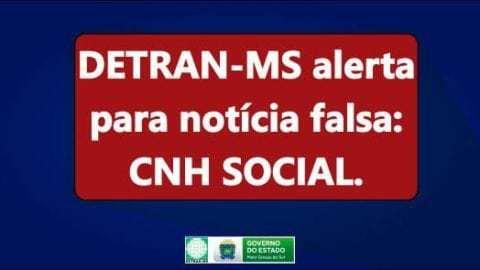 Detran-MS esclarece população sobre CNH Social