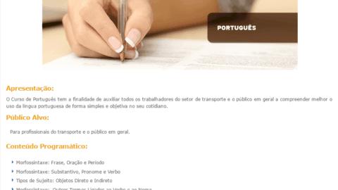Curso Online Gratuito de Português SEST SENAT