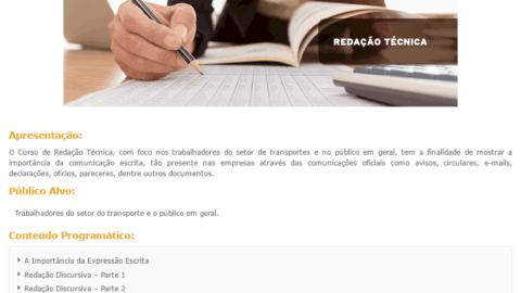 Curso Online Gratuito de Redação SEST SENAT