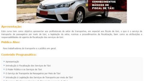 Curso Online Gratuito sobre Conhecimentos Básicos de Fiscal de Taxi