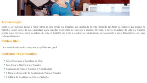 Curso Online Gratuito de Qualidade de Vida no Trabalho