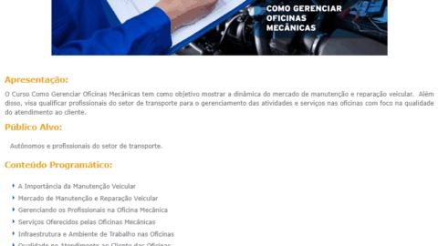 Curso Online Gratuito de Como Gerenciar Oficinas Mecânicas