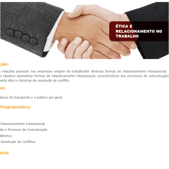 Curso Online sobre Ética e Relacionamento no Trabalho