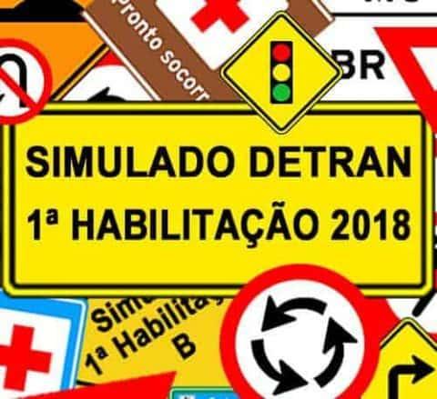 Simulado DETRAN 1ª Habilitação 2018
