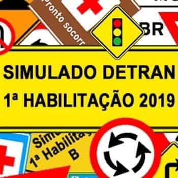 Simulado DETRAN 1ª Habilitação 2019