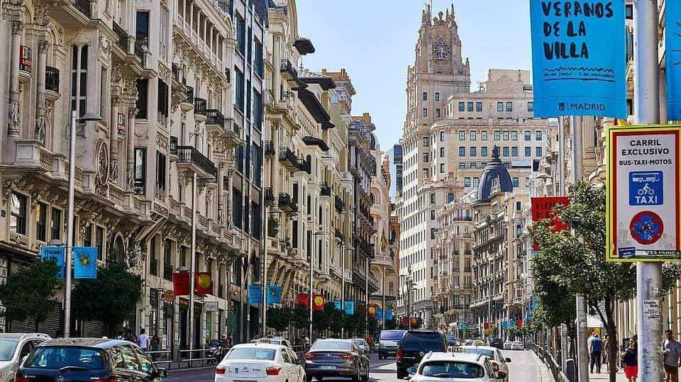 Trânsito em Madri