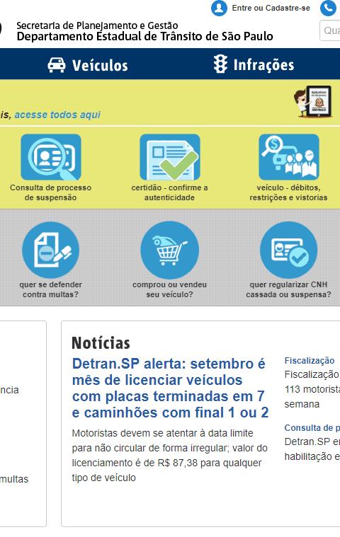 Consultar os pontos da CNH no DETRAN de São Paulo