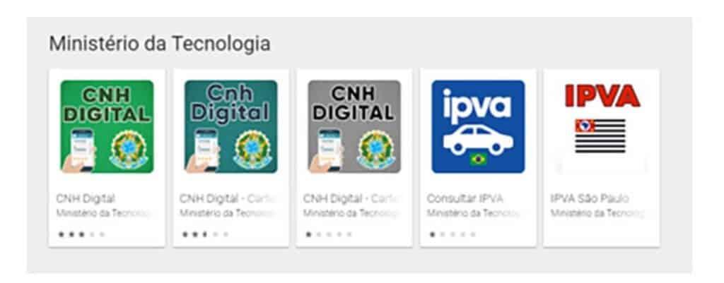 Falsos aplicativos da CNH e IPVA