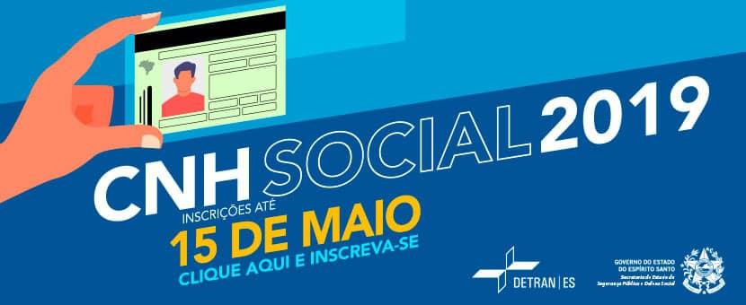 Inscrições para CNH Social 2019 no Espírito Santo