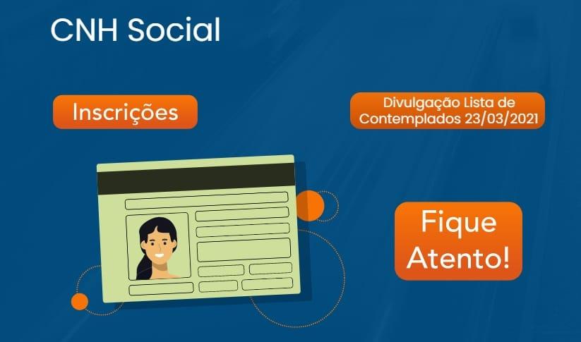 Inscrições para a CNH Social 2021 em Goiás