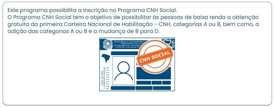 Cronograma do Programa CNH Social Goiás